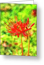 Spider Lily Cezanne Greeting Card