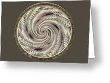 Spinning A Design For Decor And Clothing Greeting Card