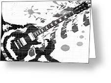 Splatter Guitar Greeting Card