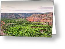 Sprawling Panorama Of Palo Duro Canyon And Capitol Peak - Texas State Park Amarillo Panhandle Greeting Card