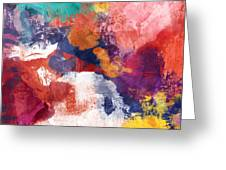 Spring Crush 3- Abstract Art By Linda Woods Greeting Card
