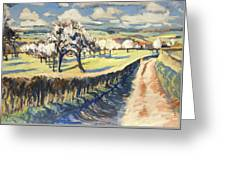 Spring In The Bellet Fruit Orchard Greeting Card