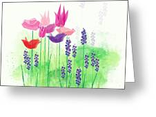 Springy Greeting Card by Gina Harrison