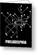 Square Philadelphia Subway Map Greeting Card