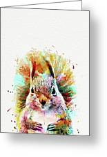 Squirrel Painting Greeting Card