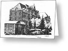 St Charles Hall Carroll College Helena Montana Greeting Card