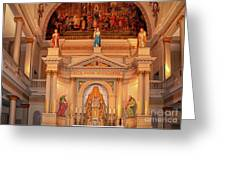 St. Louis Cathedral Altar New Orleans Greeting Card