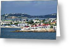 St. Maarten On The Sea Greeting Card