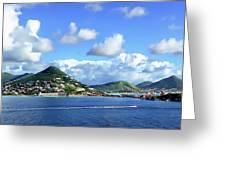St. Maarten Panorama Greeting Card