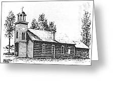 St. Mary's Mission, Stevensville, Montana Greeting Card