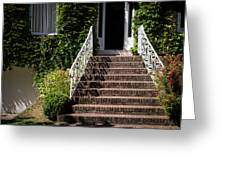 Stairs Leading To The Entrance Of A House Greeting Card