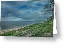 Stairs To The Beach Greeting Card by Judy Hall-Folde