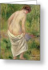 Standing Nude In A Landscape, 1914 Greeting Card