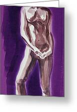 Standing Nude Model Gesture Xxxix Greeting Card