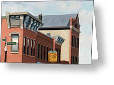 Standing Tall -local City Buildings Greeting Card
