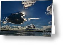 Star Over The Upper Niagara River Greeting Card
