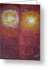 Staring Into The Suns Original Painting Greeting Card
