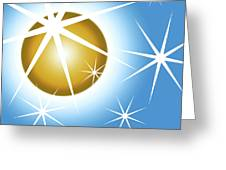 Stars And Sphere Greeting Card