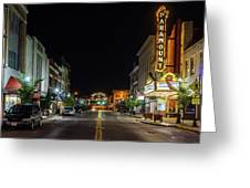 State Street With The Newly Lit Bristol Sign Greeting Card