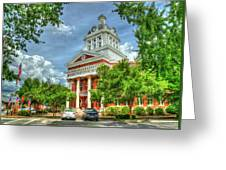 Stately Elegance Morgan County Court House Madison Georgia Art Greeting Card