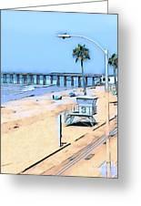 Station 3 Oceanside California Greeting Card