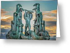 Statue Of Heracles The Hero Greeting Card