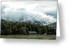 Steaming White Mountains Greeting Card