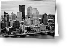 Steel City Skyline Greeting Card