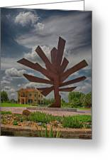 Steel Palm - Peace River Botanical And Sculpture Gardens Greeting Card