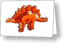 Stegosaurus Cartoon Greeting Card