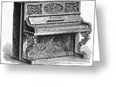 Steinway Piano, 1878 Greeting Card