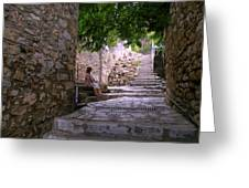 Steps And Stones Greeting Card by Micki Findlay