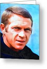 Steve Mcqueen, Portrait Greeting Card