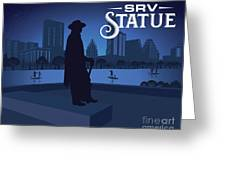 Stevie Ray Vaughan Statue Greeting Card