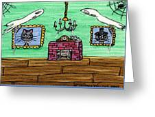 Stick Cats #1 Greeting Card