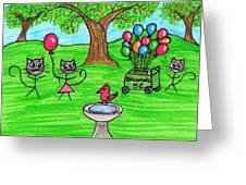 Stick Cats #7 Greeting Card