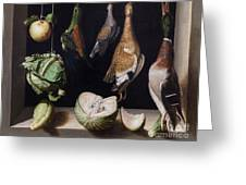 Still Life With Game Fowl Greeting Card