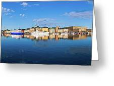 Stockholm Old City Sunrise Reflection In The Baltic Sea Greeting Card