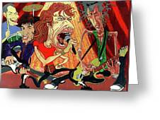 Stones On Stage - The Rolling Stones Greeting Card