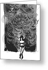 Storm In A Glass Box Greeting Card