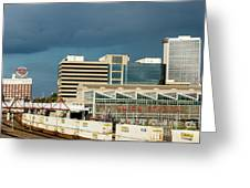 Storm Over Union Station Greeting Card