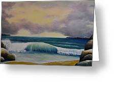 Storm Waves Greeting Card