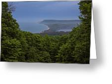 Stormy Day On Sleeping Bear Dunes Greeting Card