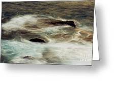 Stormy Portlock Ocean Greeting Card by Charmian Vistaunet