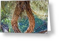 Strange Tree Greeting Card by Kate Brown