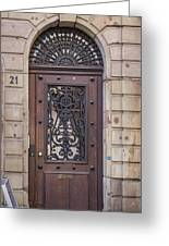 Strasbourg Door 11 Greeting Card