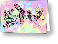 Street Sk8 Pop Art Greeting Card