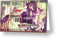 Striking Carousel Quote Greeting Card