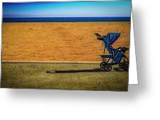Stroller At The Beach Greeting Card by Paul Wear