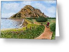 Strolling To The Rock Greeting Card